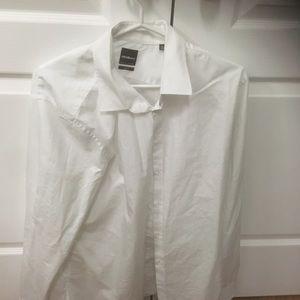 White dress shirt slim fit